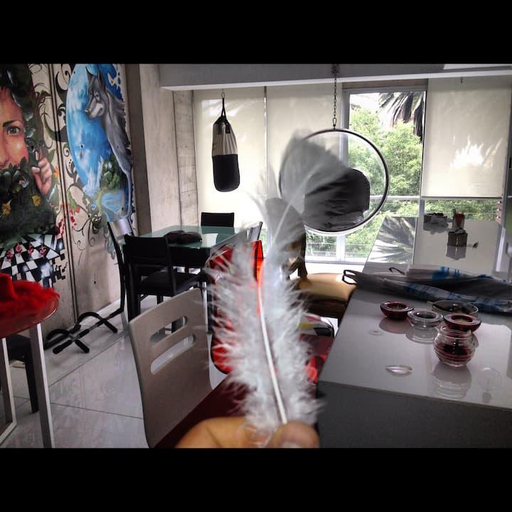 Cómodo Depa - Loft Minimalista en Condesa
