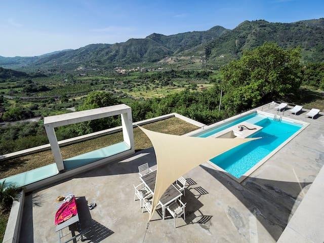 Architecture award winning villa near Taormina