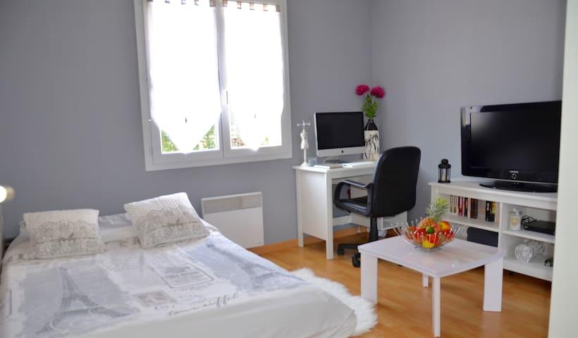 Petite chambre à la campagne avec SDB privative - Châteauneuf-sur-Loire