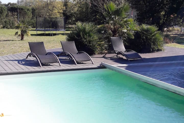 villa 12 personnes avec piscine - Verniolle - Villa