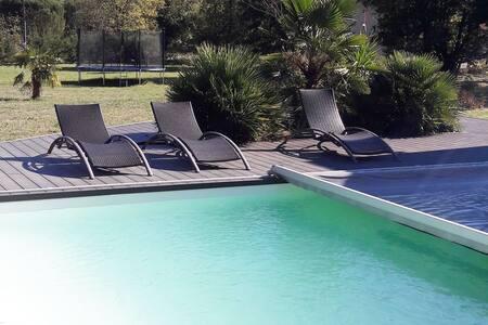 villa 12 personnes avec piscine - Verniolle - 別墅