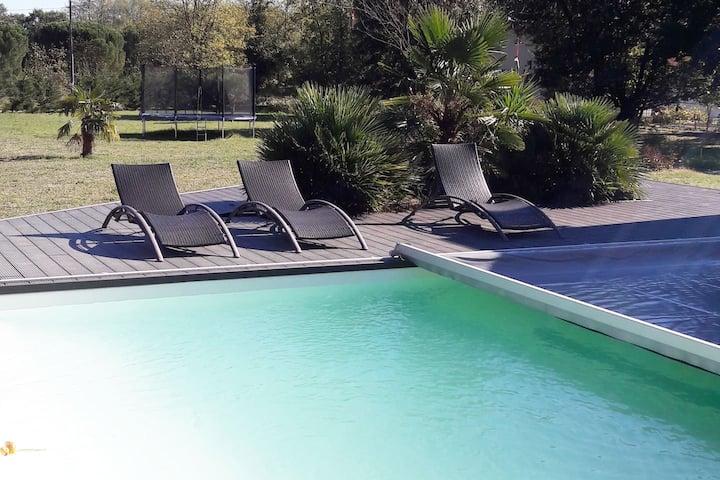 villa 12 personnes avec piscine
