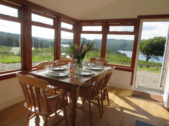 Finchairn Cottage with stunning elevated views.