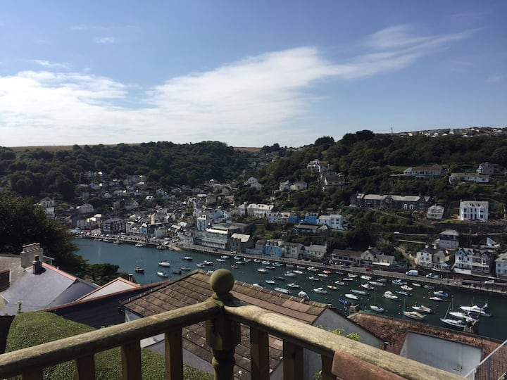 Enys View @ Bay Cottage view of Looe Harbour /Sea