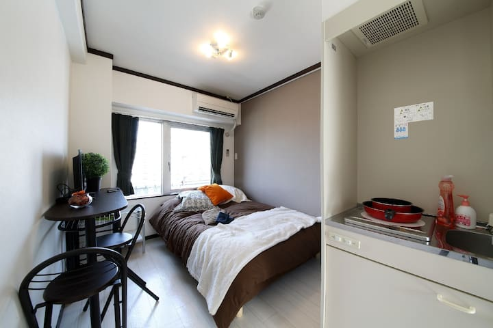 City Center Apt Near OsakaCastle w/WIFI 3min sta 5