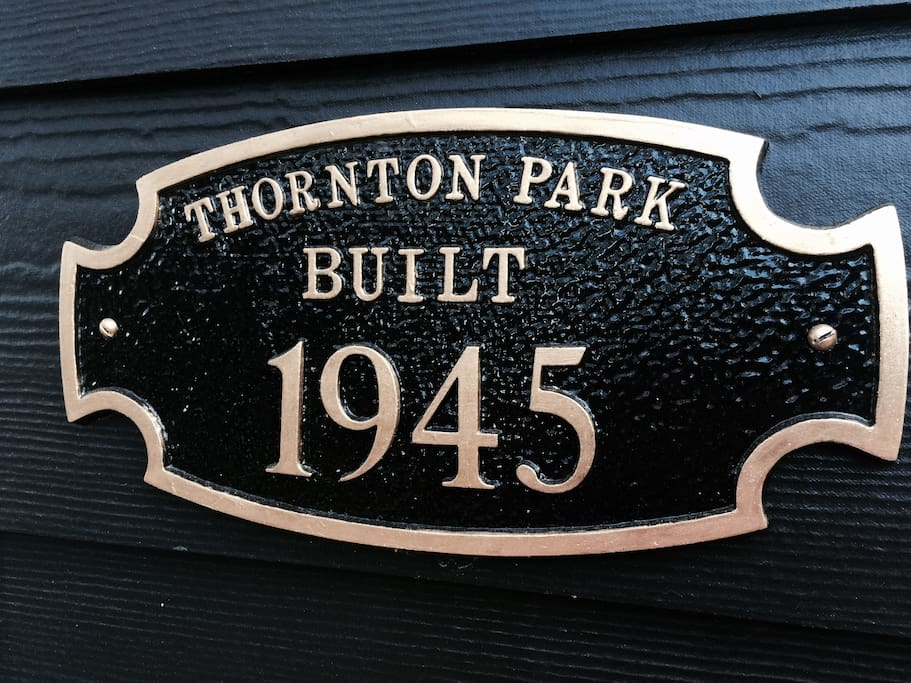 Historic Plaque with the year the home was built!