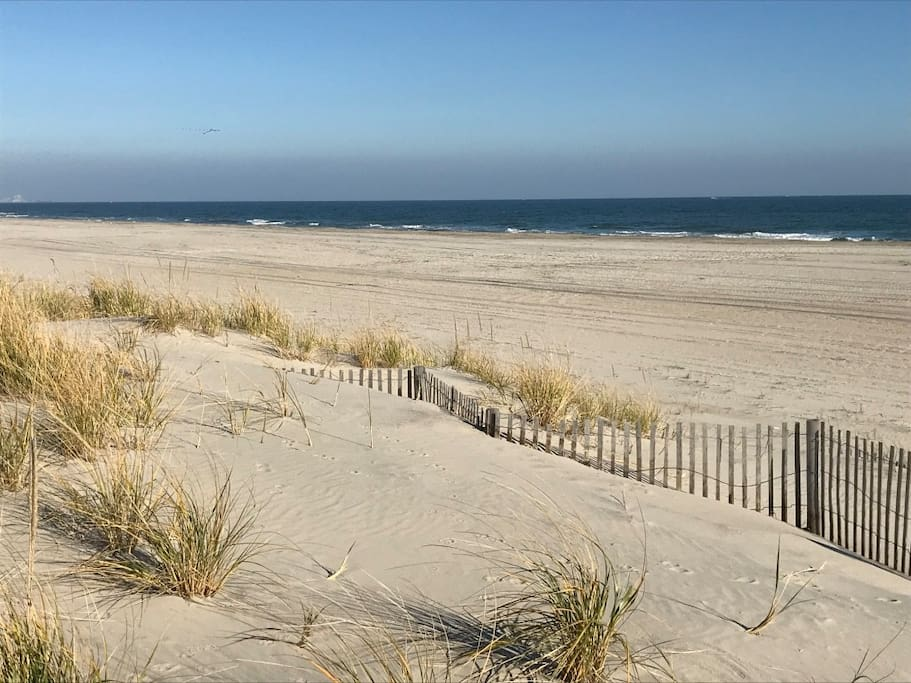 Our house is only 200 paces to the beautiful 45th Street Ocean City beach