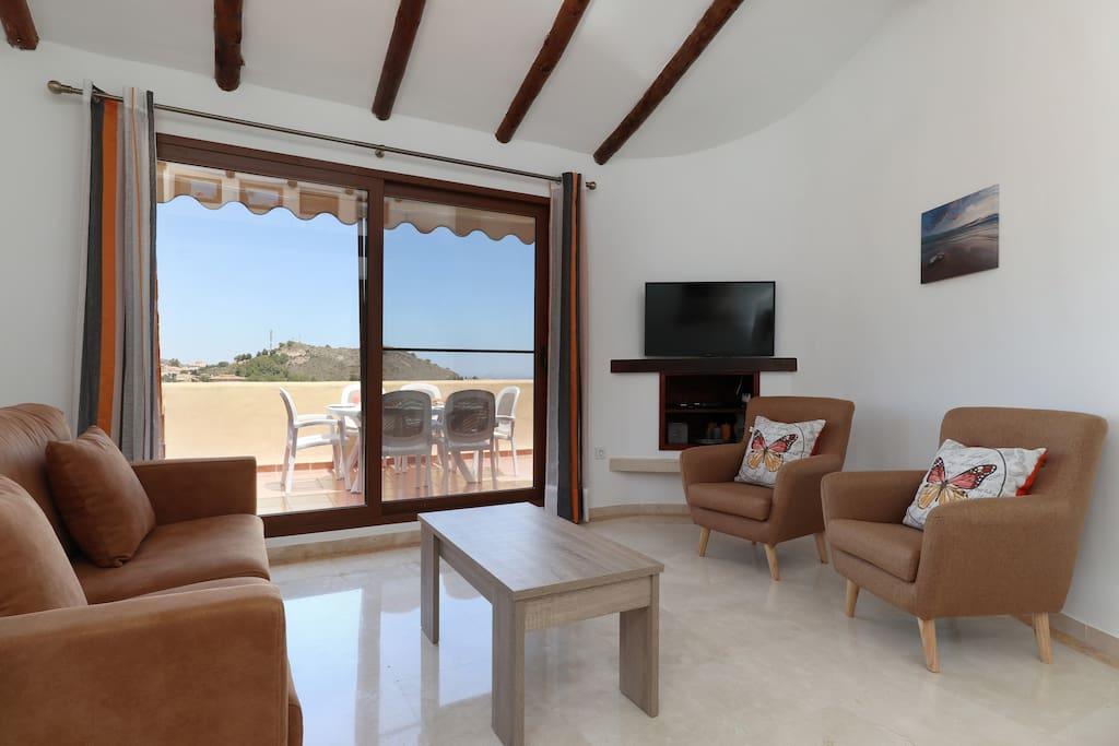 Living room & terrace entrance