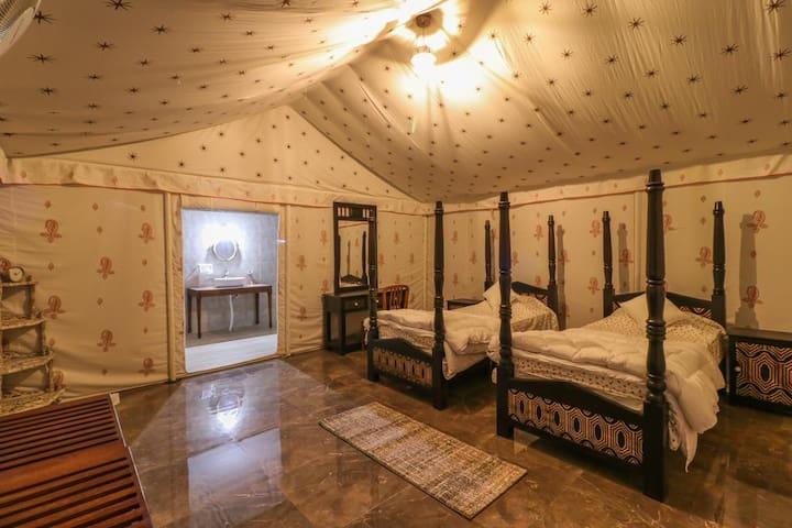 Swiss cottage luxury tent