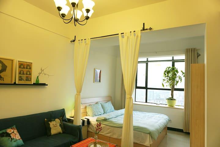 老租界/市中心/江汉路步行街地铁站/ 公寓A - Wuhan - Appartement