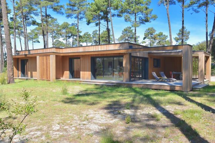 Contis, Landes: Villa 140m², 800m plage