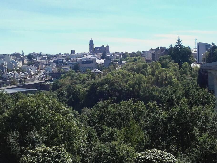 Vue sur le centre ville de Rodez depuis le quartier