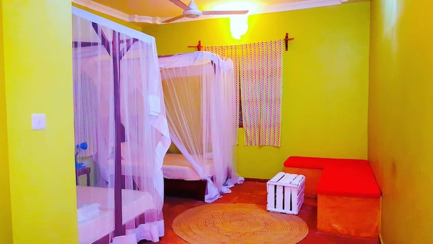 Paje Monsoon Villas-Double Twin Room-prvt bathroom