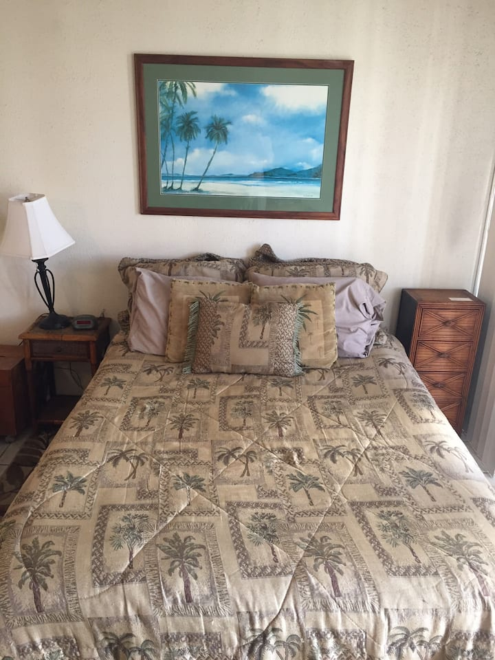 Free parking, rooftop pool, washer/dryer in unit