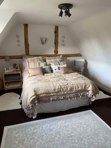 Bedroom In Farmhouse surrounded by fields