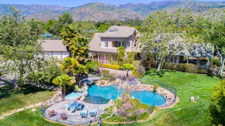Elegant Country House w/ Views, Pool, Spa, BBQ