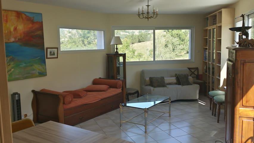 Bel Appartement de 65 m2 dans la Drôme Provençale. - Bézaudun-sur-Bîne - Departamento