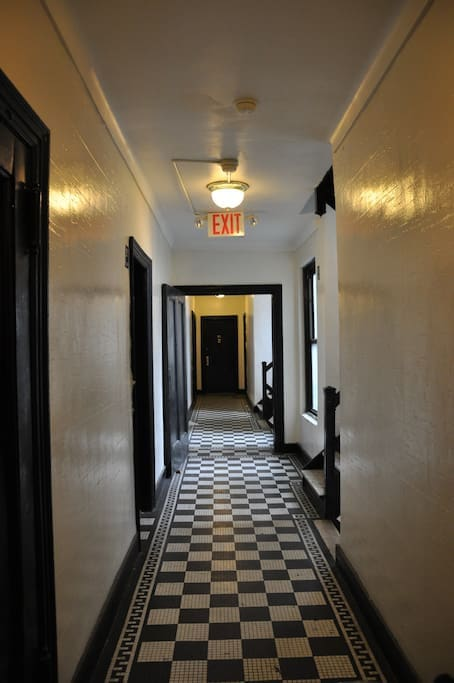 Hallway to the apartment