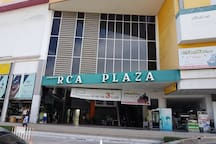 RCA plaza for movies, supermarket, books and restaurants.