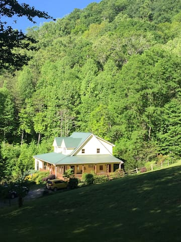 View of the house from the top meadow.