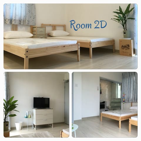 Twin bed room w/balcony 東涌鄉村舒適雙床露台房 - Lantau Island - House
