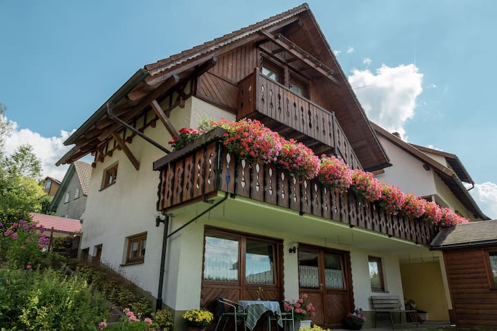 2 person holiday residence on the garden level in the beautiful Black Forest