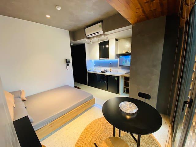 Interior space inside the studio