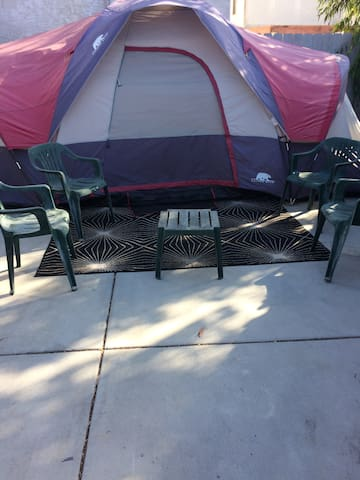 Urban camping at the Ollie Street Guesthouse!!
