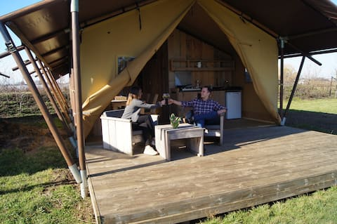 Luxury tent Hoeve Linnerveld