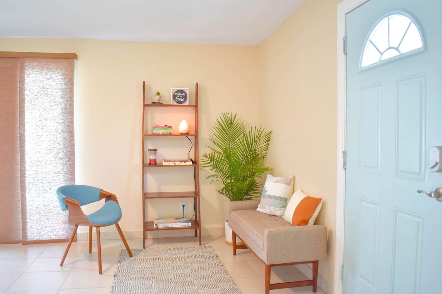 Entry way and one of the many tranquil sitting areas to relax, enjoy a book, or good cup of coffee.