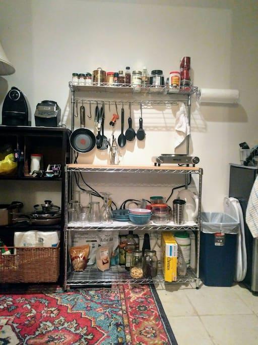 Lower level basic kitchen