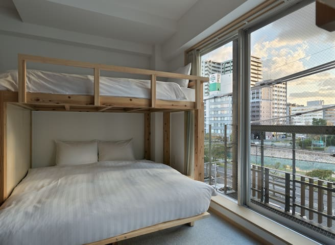 Good river view room in Susaki for  Max 8 people!