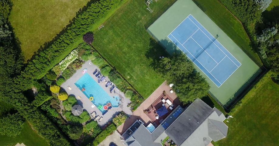 Water Mill Perfection :Tennis, Winery, Pool, Spa
