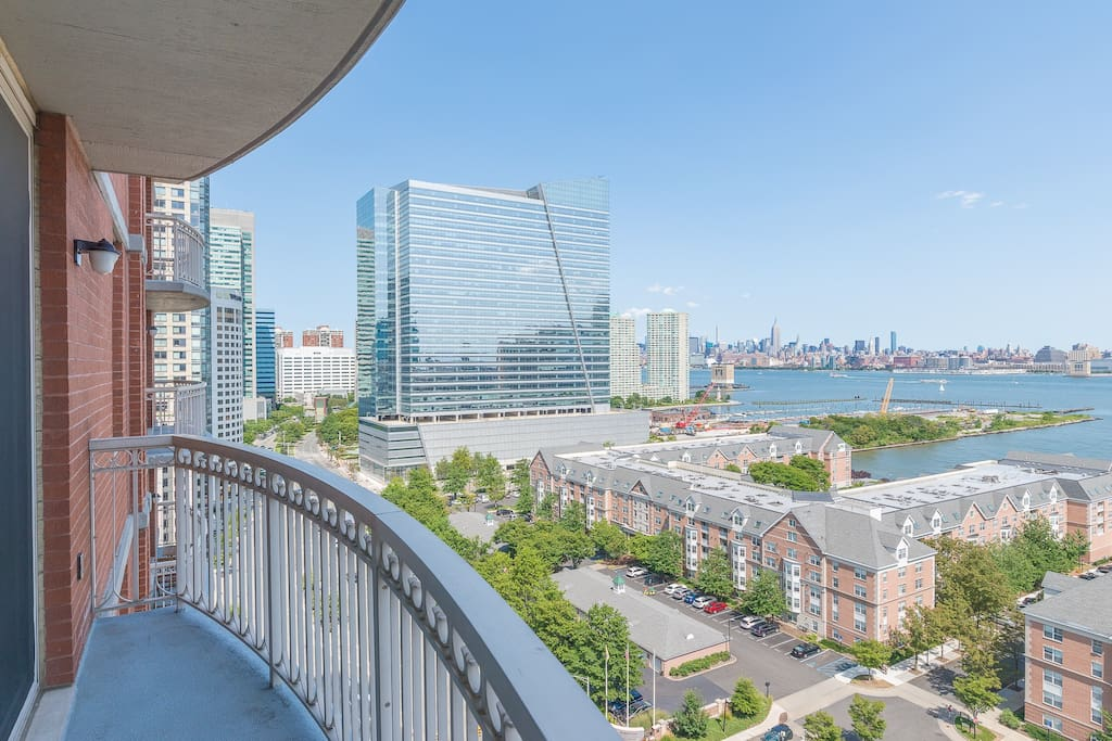 Two bedroom apartment balcony best views of nyc - 2 bedroom apartments for rent jersey city ...