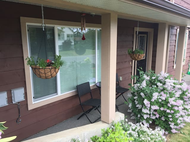 Front porch in Spring.
