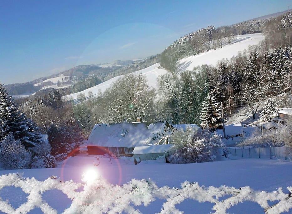 Winterlandschaft am Horn
