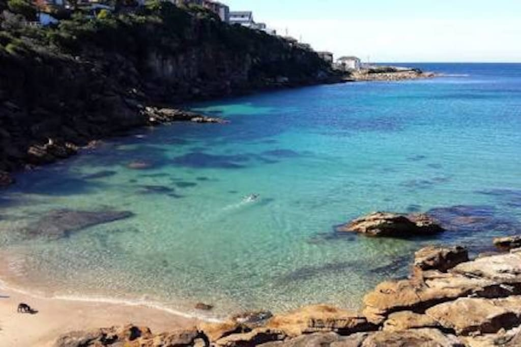 Gordon's Bay is just a few minutes walk and is excellent for snorkelling