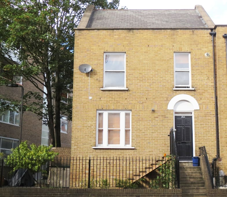 A charming two story period house with garden