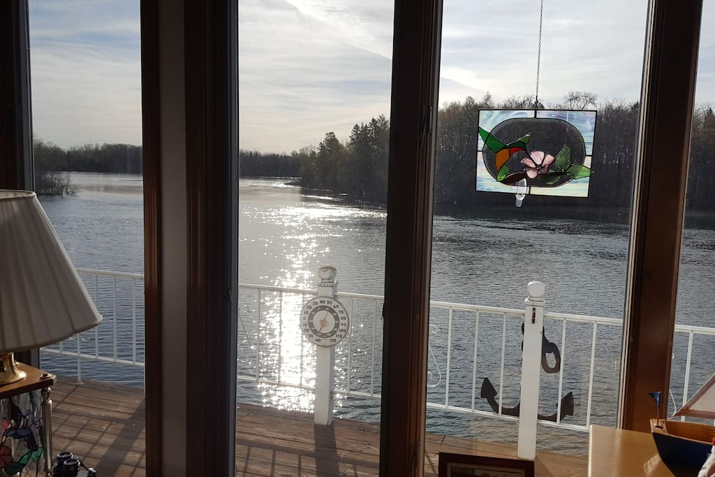 View of the river from living room