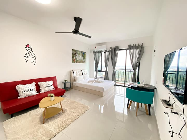 ❀Central Park❀@UHA Studio 2Pax WiFi near CIQ JBCC