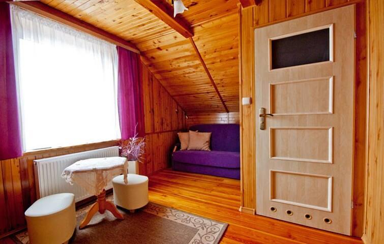 Pokój śliwkowy - Mragowo - Casa
