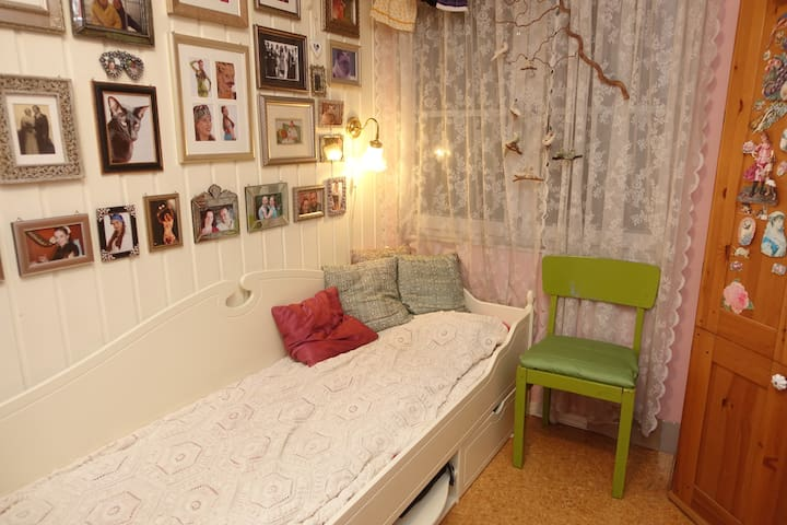 Tiny, pink and cosy room in Central Oslo - Oslo