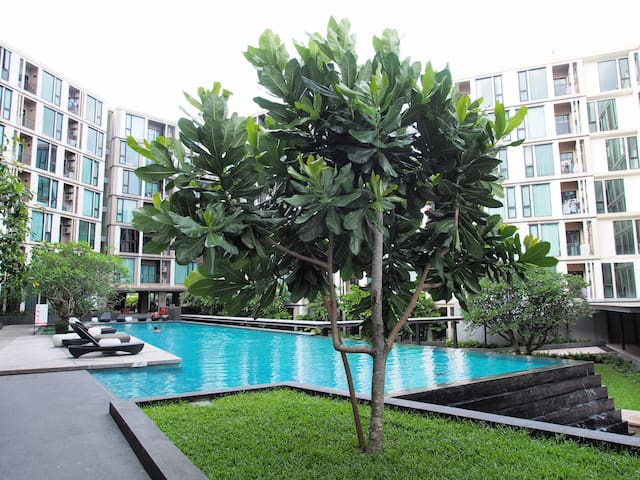 Pool View+WIFI Full Furnished Base Uptown Phuket