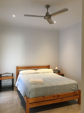 Double bed room with Ceiling Fan