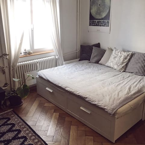 big private bedroom - central & near to the Rhine