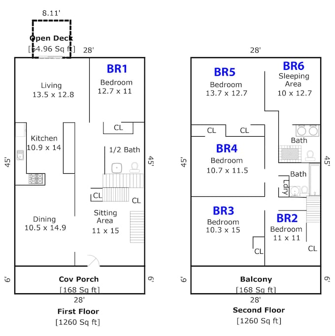 Overview - please note BR6 is entered through BR5, separated by privacy curtain.