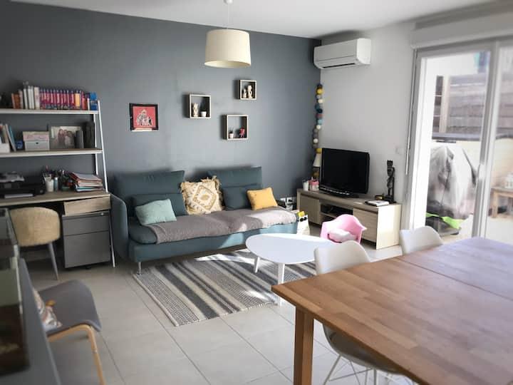 Appartement T3 cosy - terrasse - jardin - parking