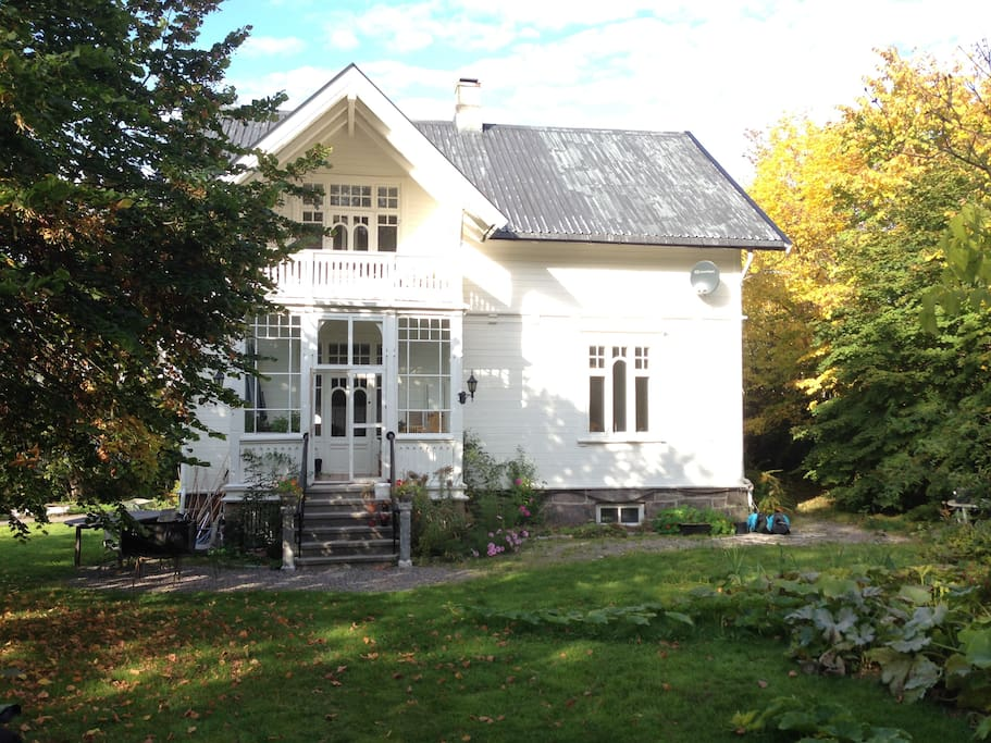 Our lovely house in autumn
