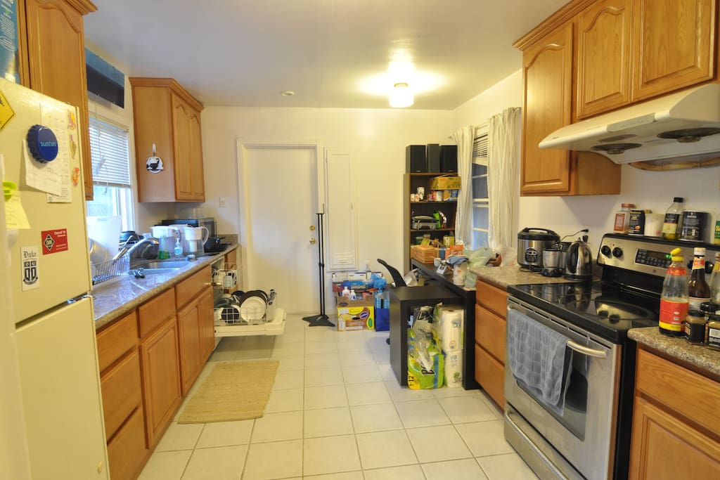 The kitchen. We have a dishwasher and plenty of condiments.