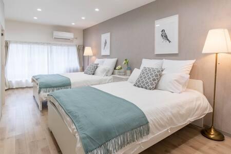 Designer house/8 mins to Namba/Bijou Suites Cyan